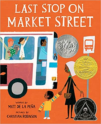 Cover of Last Stop on Market Street, a children's picture book.