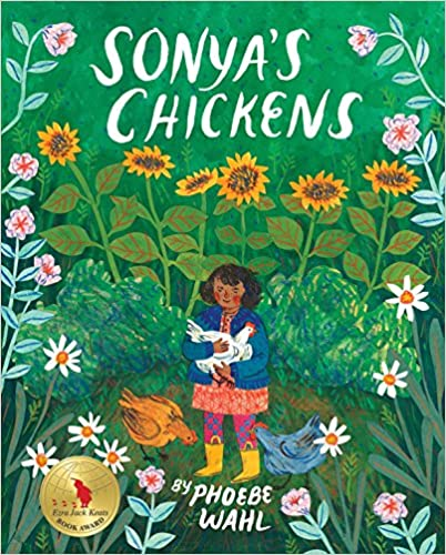Cover of Sonya's Chickens, a children's picture book.