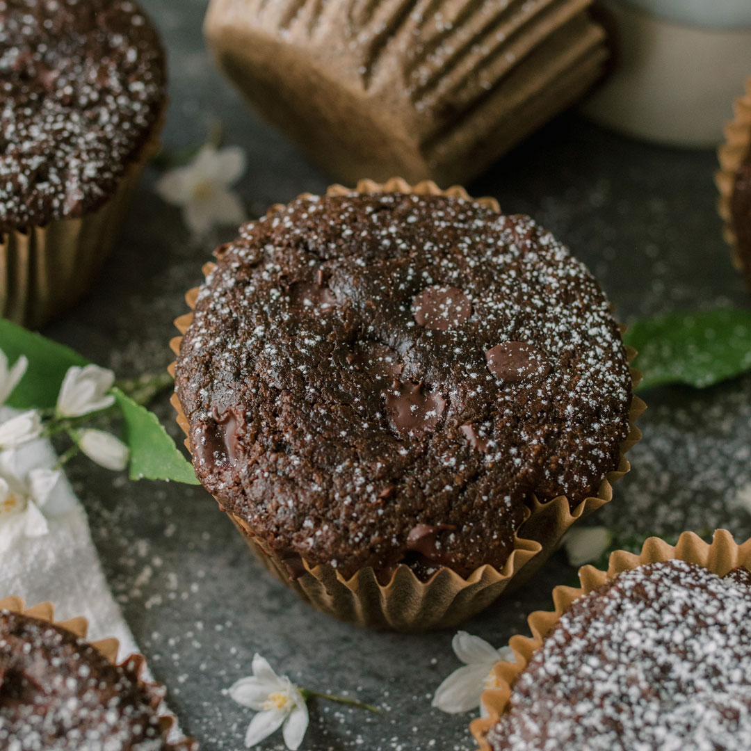 A group of green smoothie muffins