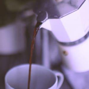 You can use a Stovetop Moka pot to make a simple latté at home!